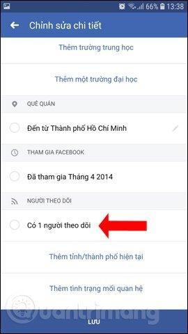Hướng dẫn hiển thị số người theo dõi trên Facebook đơn giản nhất