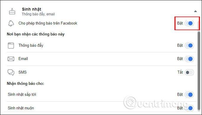 Cách tắt thông báo sinh nhật trên Facebook?