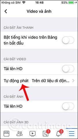 Cách tắt video tự phát trên facebook đơn giản
