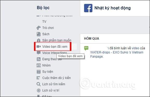 Xem video và bài viết đã lưu trên facebook