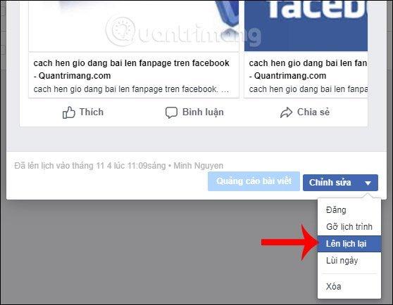 Cách hẹn giờ đăng bài lên Fanpage Facebook trong 5s