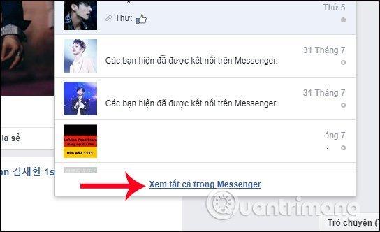 Xem tin nhắn đầu tiên trên facebook