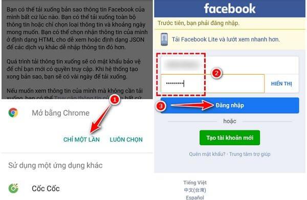 Cách lấy lại ảnh đã xóa trên Facebook bằng điện thoại
